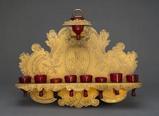 Hanukkah Lamp; Italy; 18th Century [67.1.4.36 a–i]