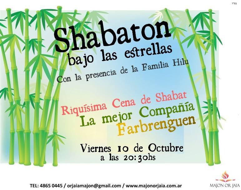 shabaton bajo las estrellas