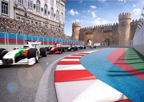 The Road #Baku European Grand Prix street circuit