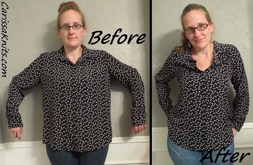 Bow Blouse - Before & After