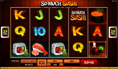 So Much Sushi slot game online review