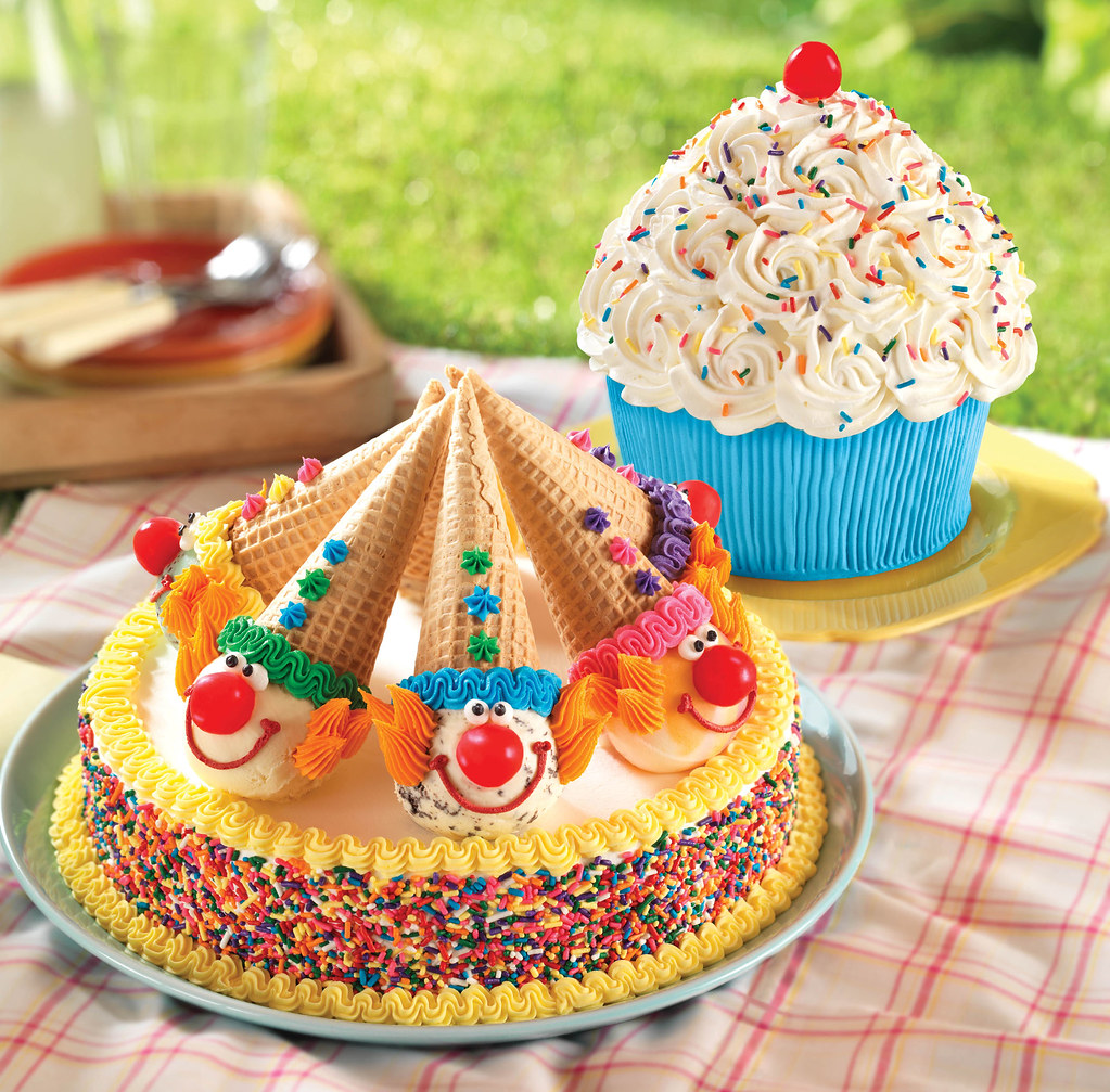 Clown Ice Cream Cake