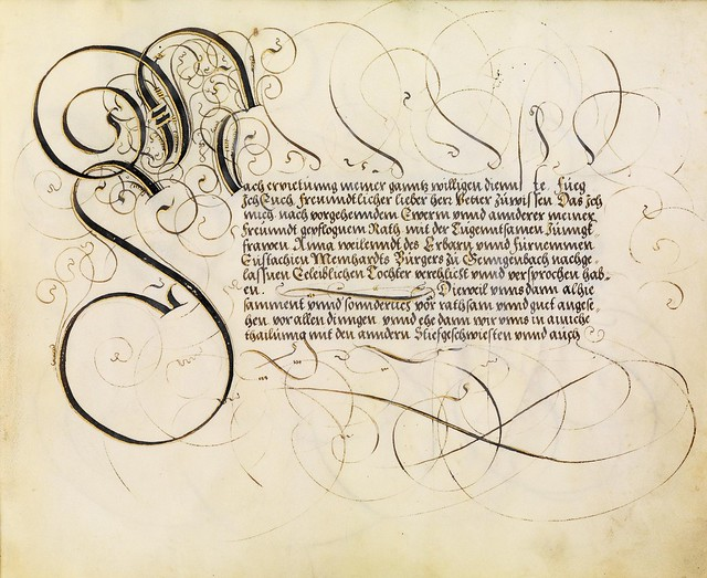 FJ Brechtel calligraphy 16th cent. l