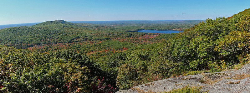 Ragged Mountain Trail View pano 10-6-14