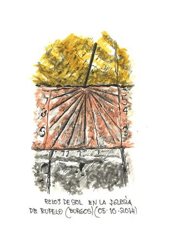 Rupelo (Burgos). Reloj de sol