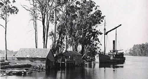 'Astral' (1908 - 1924) at Failford wharf