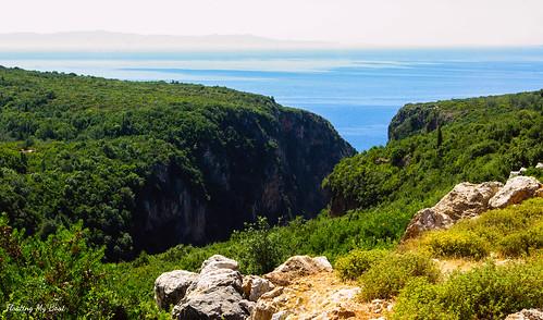 sunset summer mountains beach landscape coast holidays albania dhermi gjipe