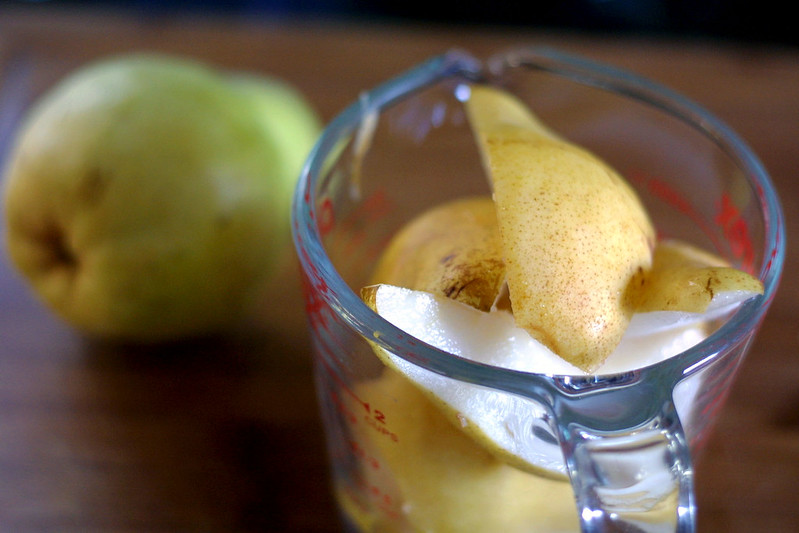 Freckled pears