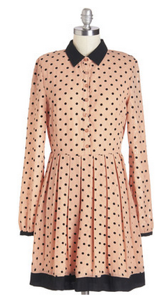 modcloth polka dot dress