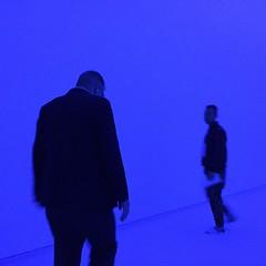 Man in blue.