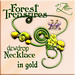 AZE Forest Treasures Dewdrop Necklace in gold