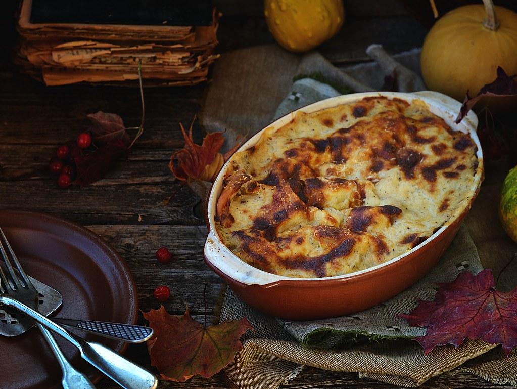 lasagne au gratin  with pumpkin.8