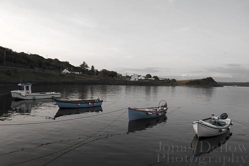 ireland sea boats blackwhite fishing shoreline relaxing calm jonasdellowphotography