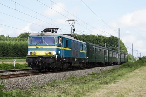 20080628 037 Nollevaux. PFT TSP Adieu Aux Locomotive Série 15. 1501 E18502 15.10 Florenville - Namur