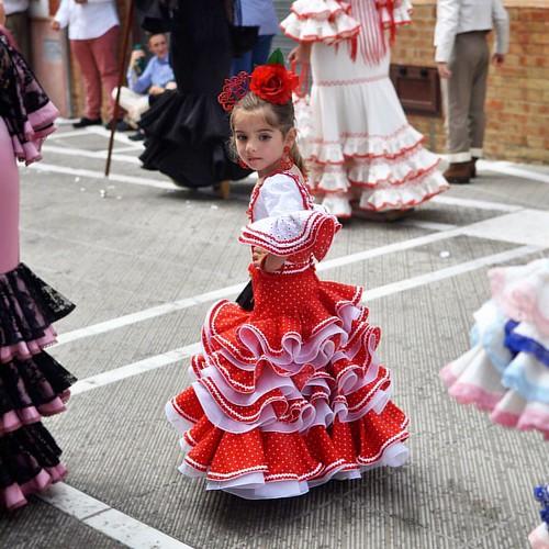 Miniflamenca   Mayo/2015 Rociana del Condado, Andalucía - España #flamenca #andalucia