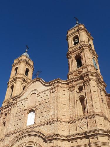 Eglise Nuestra Señora de la Asunción (XVIIIe), Munébrega, communauté de Calatayud, province de Saragosse, Aragon, Espagne.