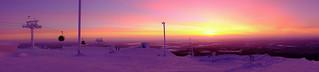 Ylläs mountain in purple