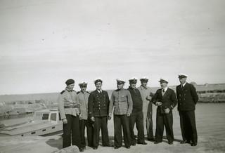 Signaalikurssin osanottajia kesäkuussa 1949