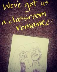 Love is in the air. #kindergarten #younglove #ilovemyjob #kidart #mylife #love #boysandgirls