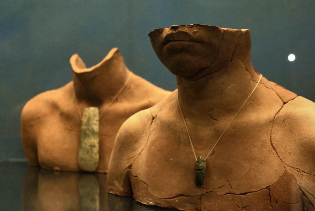 Médaillons précolombiens (ou en tout cas d'Amérique du sud) au musée des cultures du monde de Gênes.