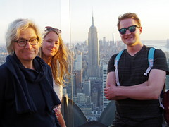 My family and me (the photographer, the ghost) in NYC on