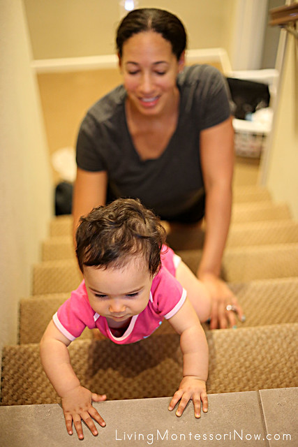 Practice Crawling up the Stairs