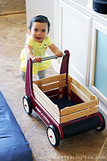 Pre-Walking Fun with the Radio Flyer Walker Wagon
