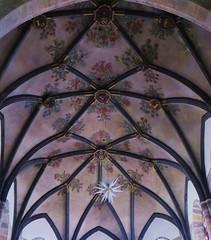 Voûtes du choeur, cathédrale Notre-Dame du Glarier, Sion, canton du Valais, Suisse.