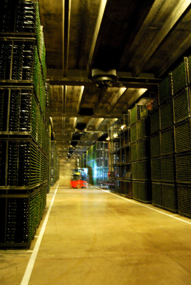 Inside Campo Viejo's Wine Storage