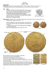 Anglo-Gallic coins book page