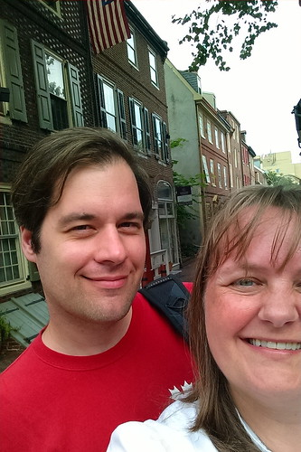 Elfreth's Alley selfie