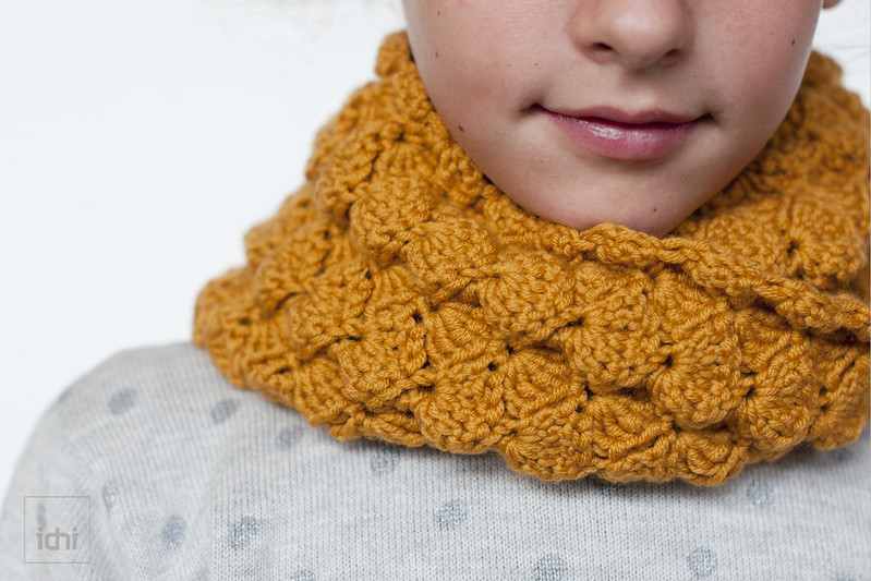 crochet scarf mustard 4