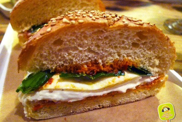 Corkbuzz - burrata sandwich