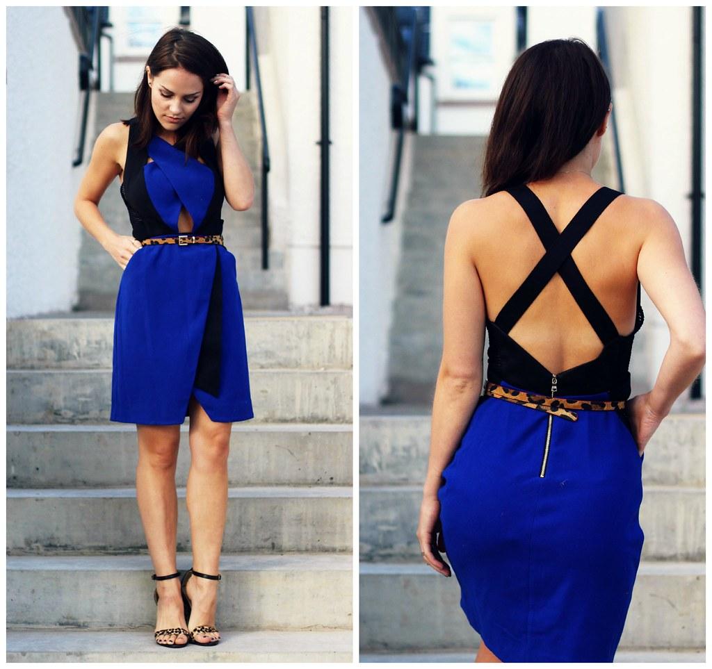 Three Floor cobalt blue dress 7