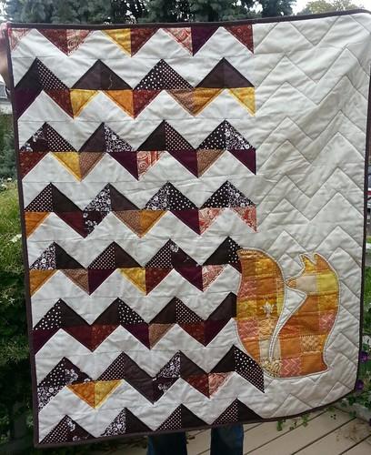 Fox Applique quilt