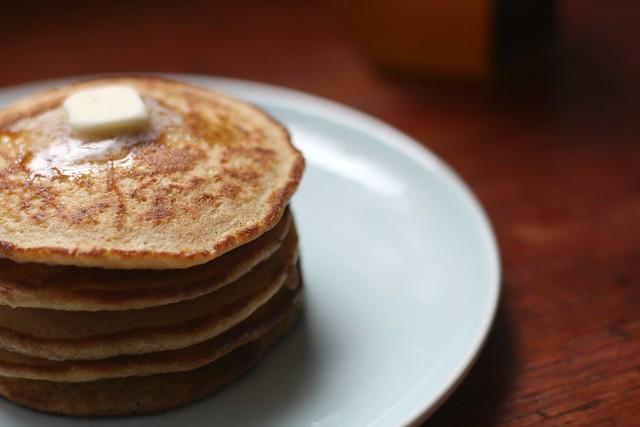 Hotcakes con mantequilla