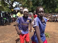 Children celebrate as school is open in Kule refugee camp