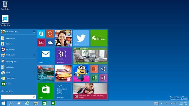 Скриншоты Windows 10