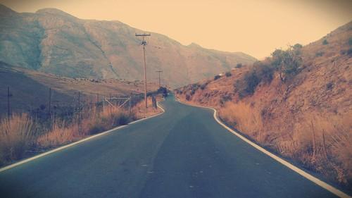 road mountain dof kreta cellphone crete summertime endless agiagalini