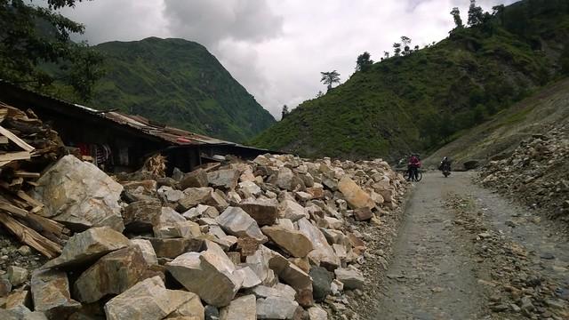 "Arniko Highway ""Dangerous Roads"" landslide"