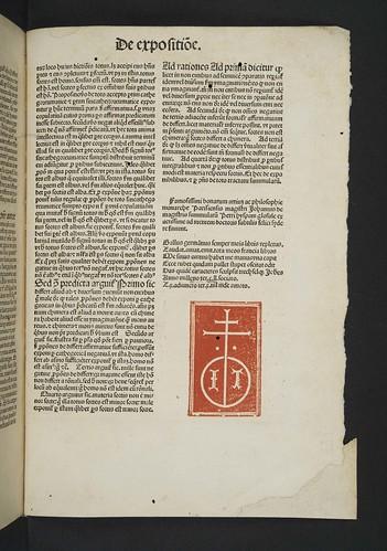 Printer's device in Johannes XXI, Pont. Max. (Petrus Hispanus): Summulae logicales