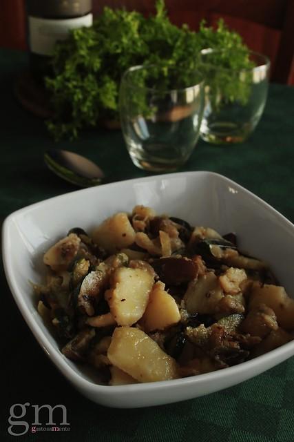 Patate, zucchine e porcini