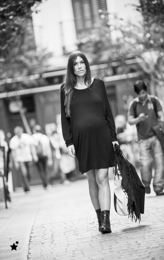 street style barbara crespo black and white B&N outfit personalizing fashion blogger outfit blog de moda