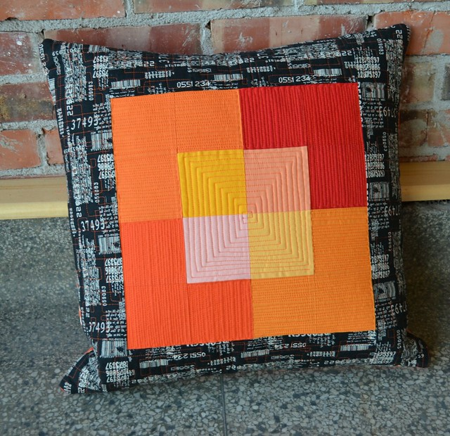 The Sixties Orange Pillow