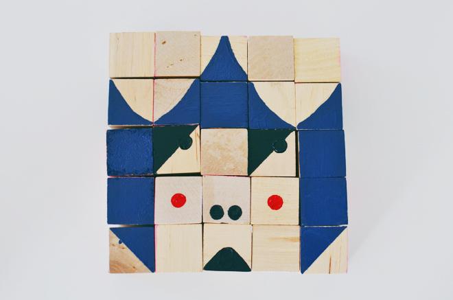 funny face blocks