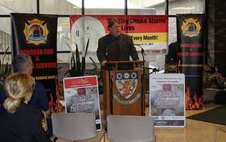 John Fairley - Fire Prevention Kick-Off - St. Clair College
