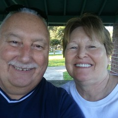 Donna and myself . Morning in Florida