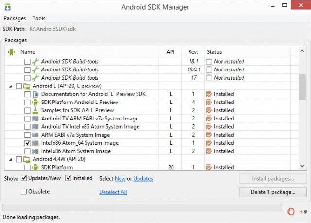 x86-эмулятор Android L 64-бит