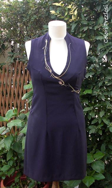 DIY violet dress