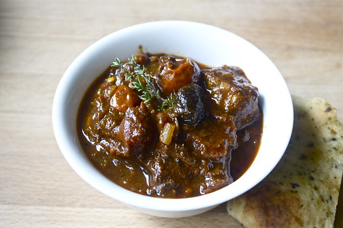 lamb tagine with black garlic